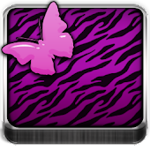 THEME - Purple Zebra Butterfly