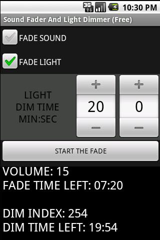 Sound Fader Light Dimmer Free - screenshot