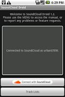 Screenshot of MusiCloud