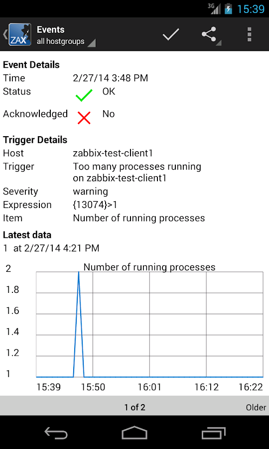 ZAX Zabbix Systems Monitoring - screenshot