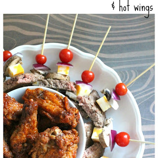 Loaded Burger Skewers and Hot Wings for Game Day Parties!