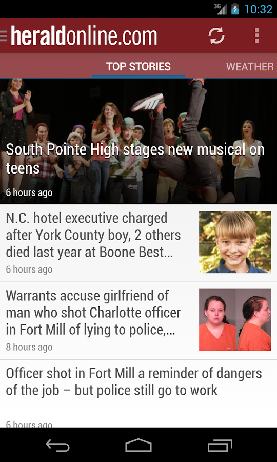 Rock Hill Herald SC newspaper - screenshot