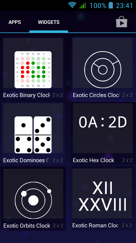 Exotic Clocks- screenshot