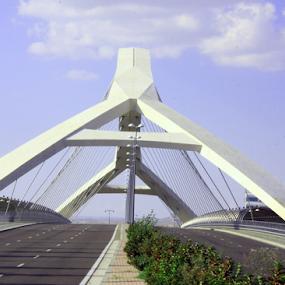 Zaragoza by Joseph Escopin - Buildings & Architecture Bridges & Suspended Structures ( structure, zaragoza, bridge, expo, pwc89bridges )