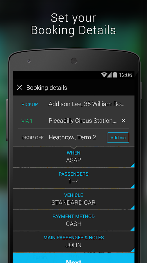 Addison Lee – London Minicabs - screenshot
