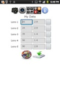 Screenshot of DOF Calculator Plus