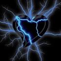 Heart Electric Blue Lightnings logo