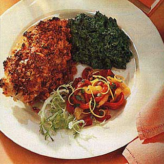Chicken Breasts with Sun-Dried Tomato and Garlic Crust Recipe