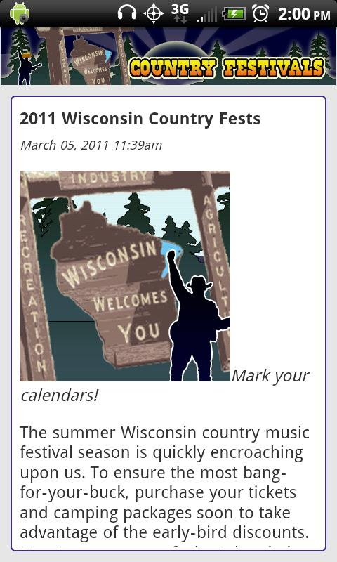Wisconsin Country Music Fests - screenshot
