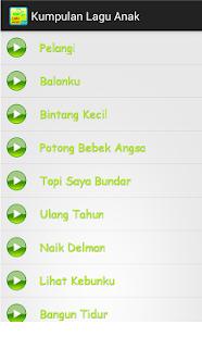 Kumpulan Lagu Anak-anak - screenshot thumbnail