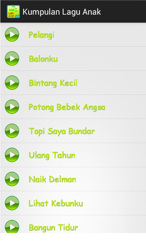 Kumpulan Lagu Anak-anak - screenshot