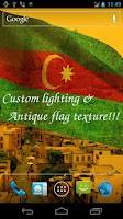 Screenshot of 3D Azerbaijan Flag LWP