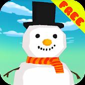 Snowman Falldown Game - Free