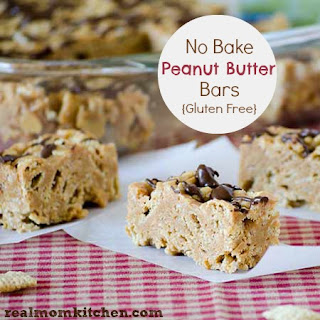 No Bake Peanut Butter Bars {Gluten Free}