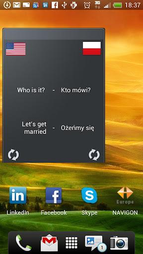 Learn Polish widget