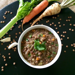 The Best Ever Lentil Soup (My Secret Ingredient is Parsley Root)