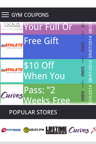 Gym Coupons