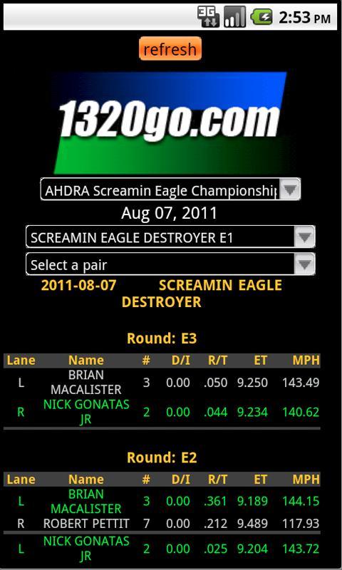 1320go Live Timing Online - screenshot