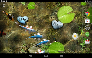 Screenshot of Koi Live Wallpaper