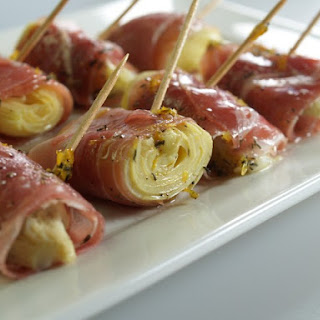 Artichoke Hearts And Prosciutto Roll-Ups.
