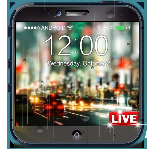 雨夜城市锁定屏幕 個人化 App LOGO-硬是要APP