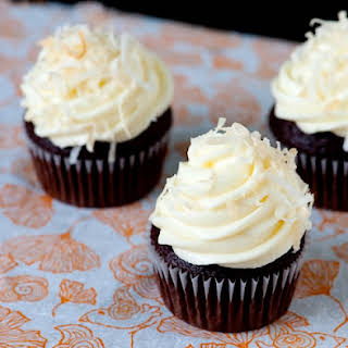 Chocolate Coffee Cupcakes with Coconut Frosting.