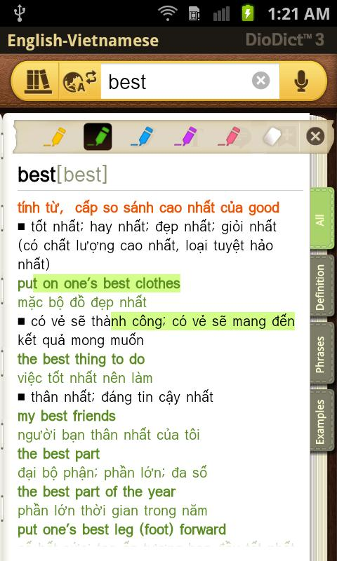 English–Vietnamese dictionary - screenshot