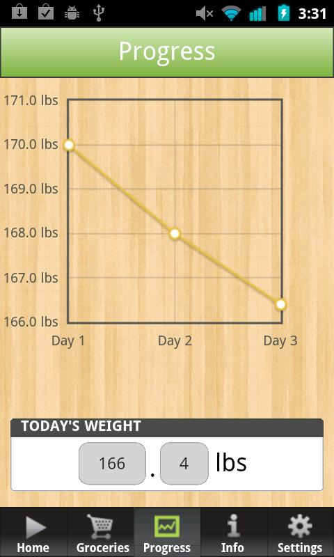 3 Day Diet - screenshot