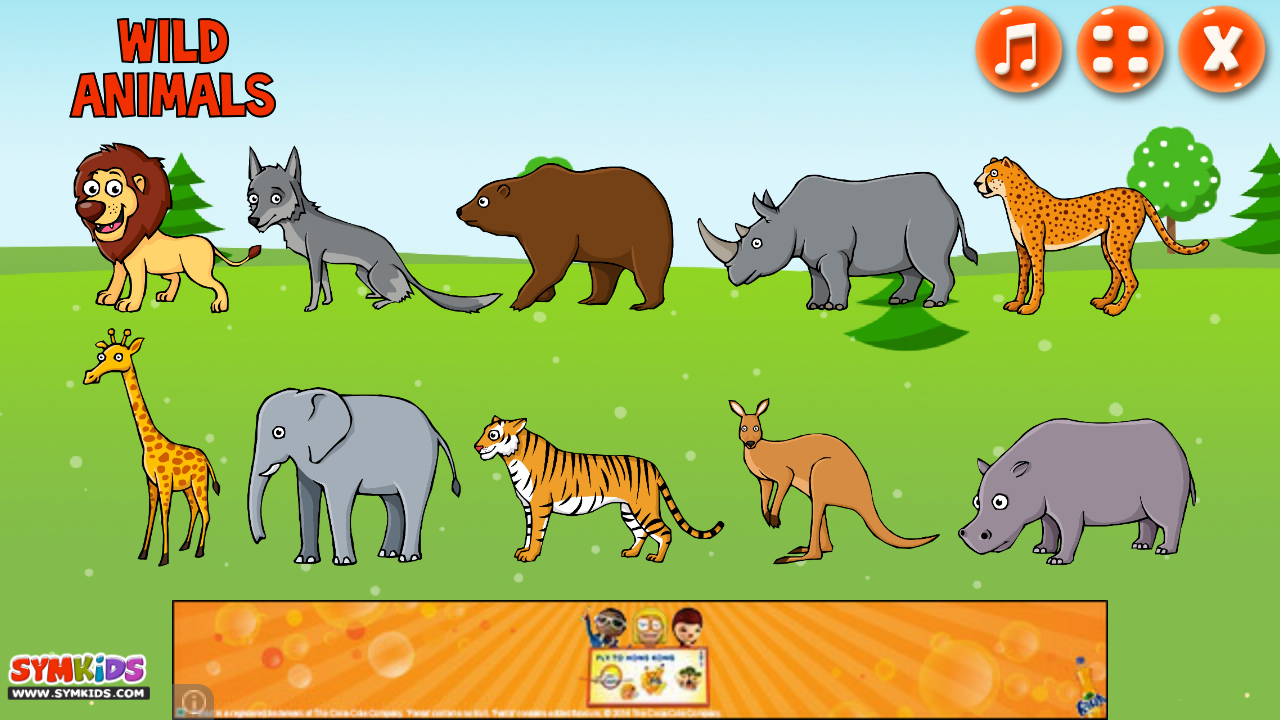 wild animals for kids android apps on google play