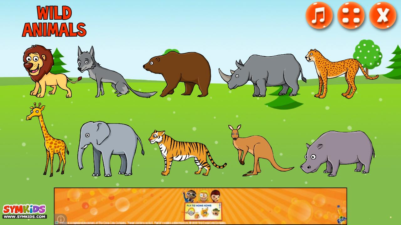 wild animals for kids screenshot
