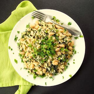 Cannelloni Bean and Broccoli Rabe Risotto