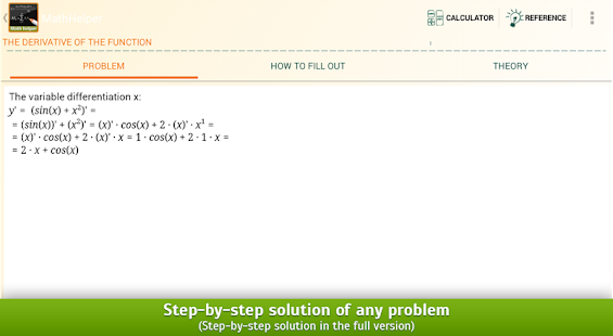 Math Helper - Algebra Calculus- screenshot thumbnail