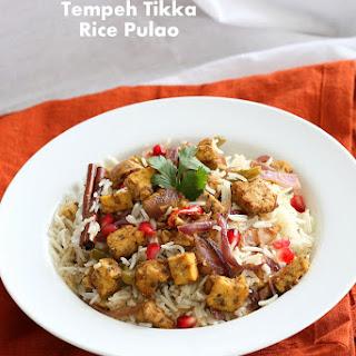 Tempeh Tikka Pulao. Vegan Gluten-free