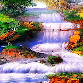 Dreamy Waterfall Live Wallpape