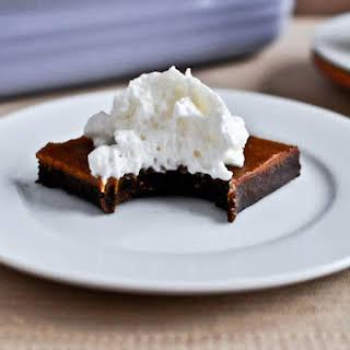 Pumpkin Pie Fudge Brownie Bars.