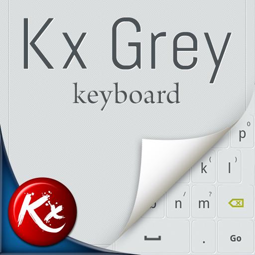 Kx Grey Keyboard 個人化 LOGO-阿達玩APP