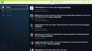 Twitter for Google TV screenshot for Android