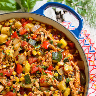 End of Summer Herby Chicken Chili Pot