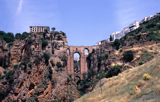 El-Tajo-Ronda-Spain - El Tajo, the historic bridge in Ronda in Spain's province of Málaga.