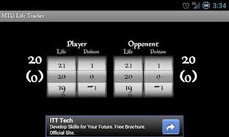 Screenshot of MTG Life Tracker