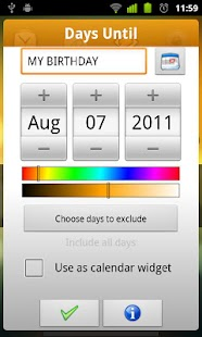 DaysUntil Widget - screenshot thumbnail
