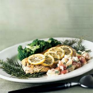 Roasted Fish on Rosemary.