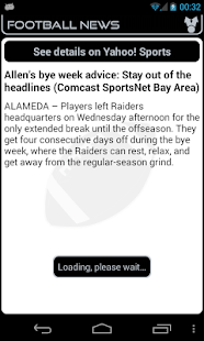 Oakland Football News- screenshot thumbnail