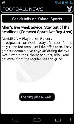 Oakland Football News - screenshot