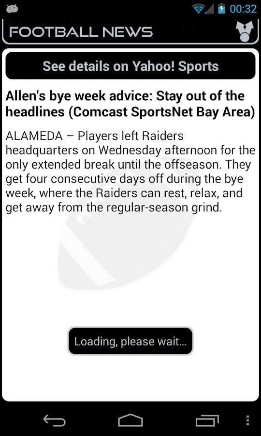 Oakland Football News- screenshot