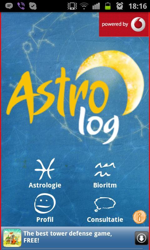 AstroLog– captură de ecran