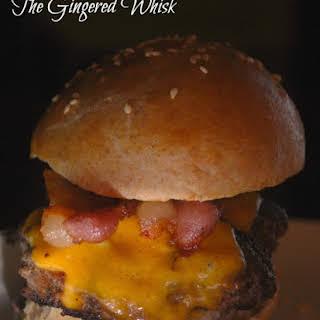 Bacon Cheese Venison Burgers.