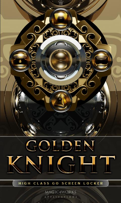 3D golden knight GO Locker - screenshot