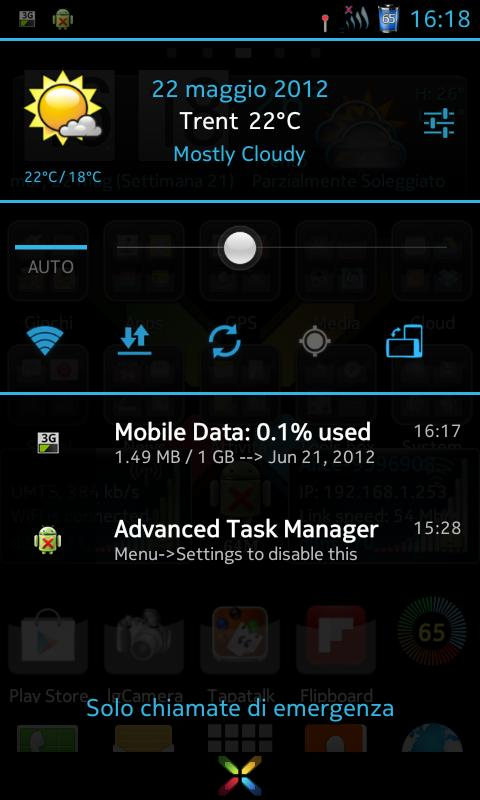 CM10.1 cm10 AOKP Theme X-Blue - screenshot