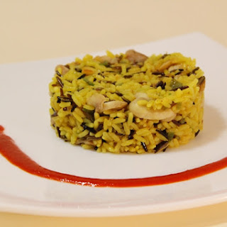 Curried Wild Rice with Chicken and Mushrooms.